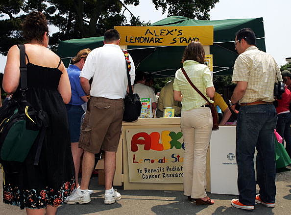 Alex's Lemonade Stand Raises Money For Pediatric Cancer