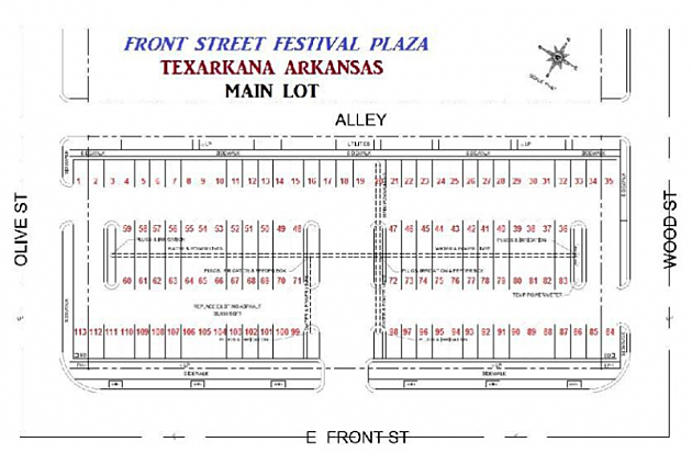Mardi Gras - Front Street Festival Plaza Map