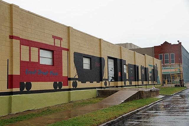 Front Street Festival Plaza Train Mural