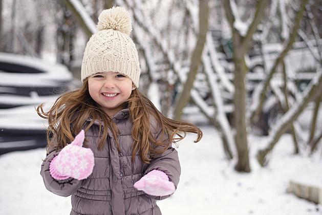 Winter little girl