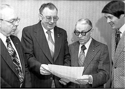 Texarkana Gazette Archives L to R Bill Atkins, Cecil Phillips, Wilbur Smith, Dan Crowder