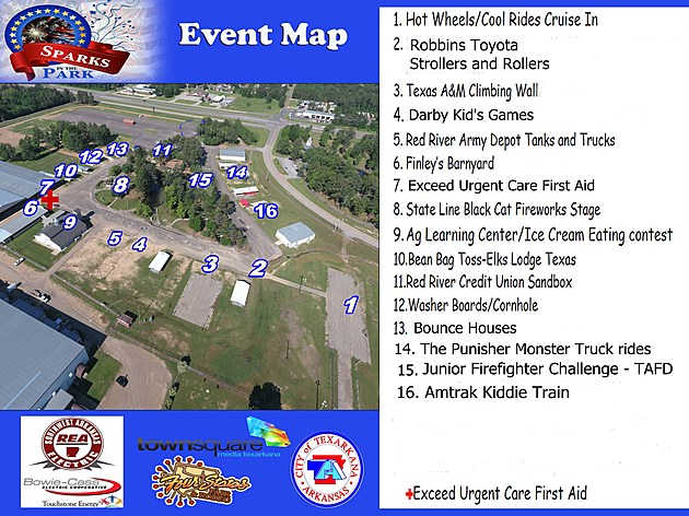 2017 Sparks in the Park Map