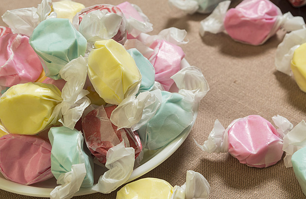 bowl of salt water sweet taffy