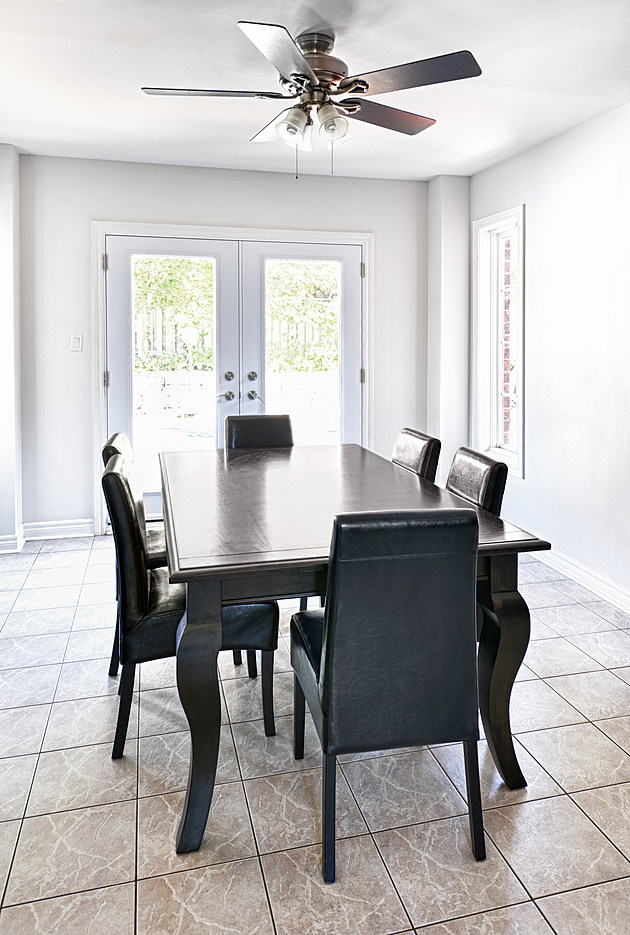 Interior with dining table