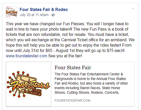 Four States Fair Facebook