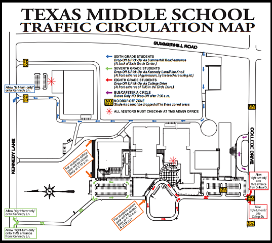 school traffic map